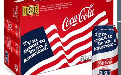 Découvrez la canette patriotique de Coca-Cola aux Etats-Unis