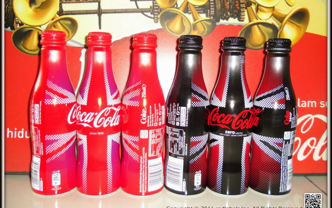 Nouvelles bouteilles Coca-Cola aux couleurs de l'Union Jack