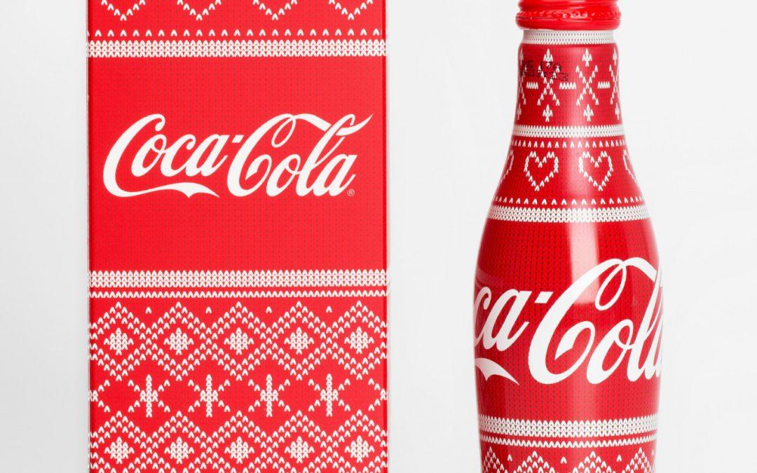 La bouteille Coca-Cola de Noël était aussi disponible en coffret