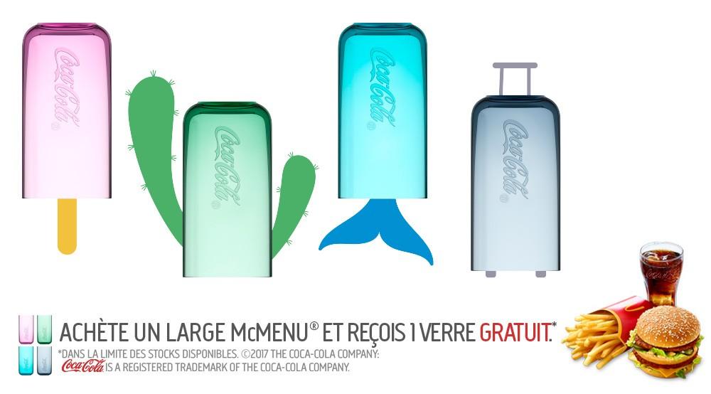 Les verres Coca-Cola de retour chez McDonald's en Belgique