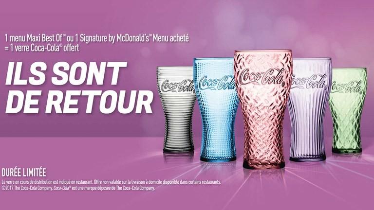 En août, les verres Coca-Cola sont de retour chez McDonald's en France