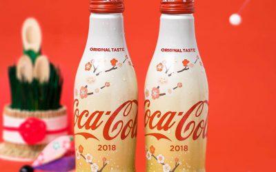 Nouvelles bouteilles Coca-Cola fleuries au Japon pour 2018
