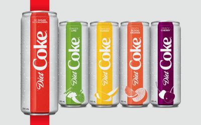 Nouvelles saveurs et packaging pour Coca-Cola Light en Amérique du Nord