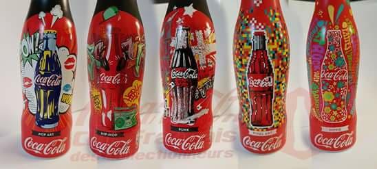 Retour de 5 bouteilles Coca-Cola collector à collectionner chez Quick