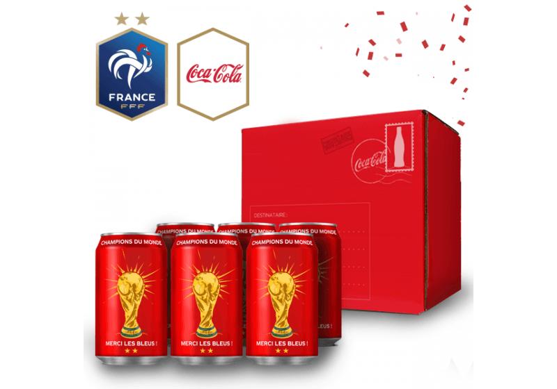 Les canettes Coca-Cola Collector « Champions du monde » disponibles chez Monoprix