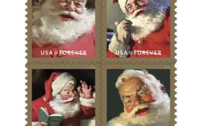 Des timbres à l'effigie du Père Noël de Coca-Cola aux USA