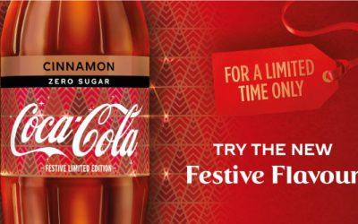 Un Coca-Cola zero sucres saveur Cannelle pour Noël en Grande-Bretagne