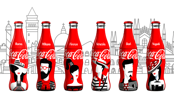 Face of the City : 6 bouteilles Coca-Cola collector en Italie