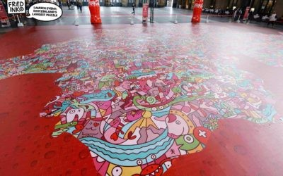 Coca-Cola & Fredinko ont créé le plus grand puzzle de Suisse