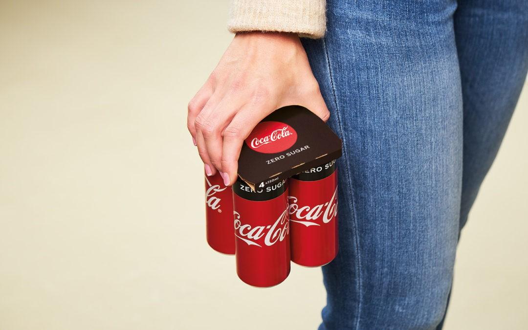 Coca-Cola abandonne les films plastiques des packs de canettes