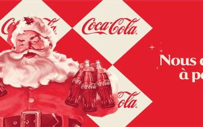 La bouteille Coca-Cola en verre est de retour dans un habillage vintage pour Noël