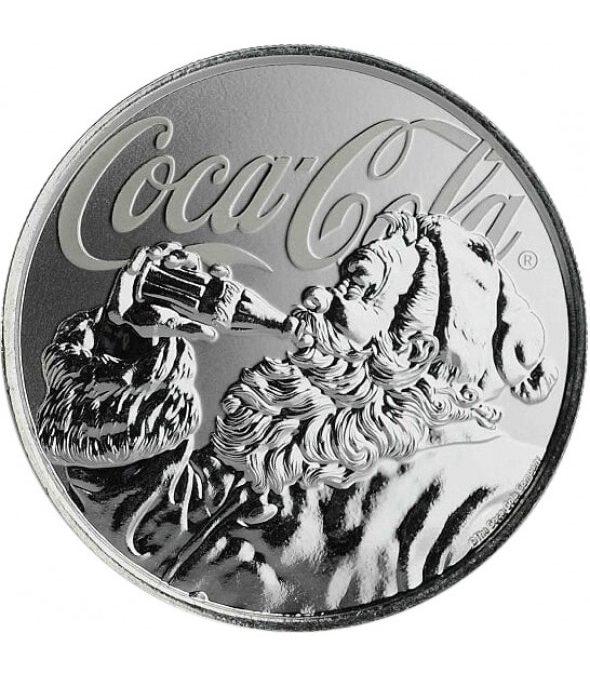 Le Père Noël Coca-Cola frappé sur pièce de monnaie