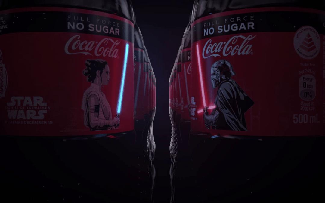 Coca-Cola a créé des bouteilles avec les sabres laser de Star Wars qui s'allument