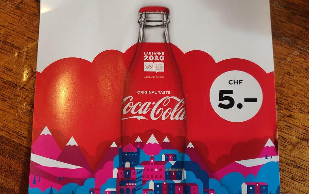 Lausanne 2020 : une bouteille Coca-Cola en édition limitée disponible