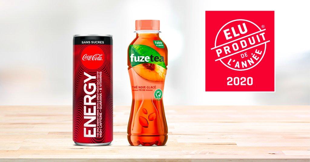 Coca-Cola Energy et Fuze Tea : Elu Produit de l'Année 2020