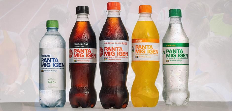 Coca-Cola Suède - Bouteilles en plastique 100% recyclé