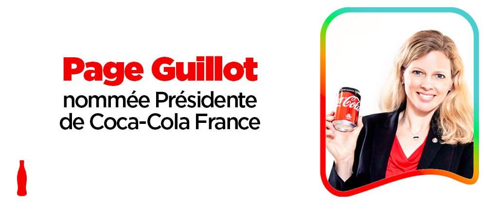 Page Guillot est nommée Présidente de Coca-Cola France
